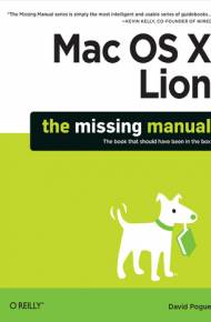 ebook Mac OS X Lion: The Missing Manual
