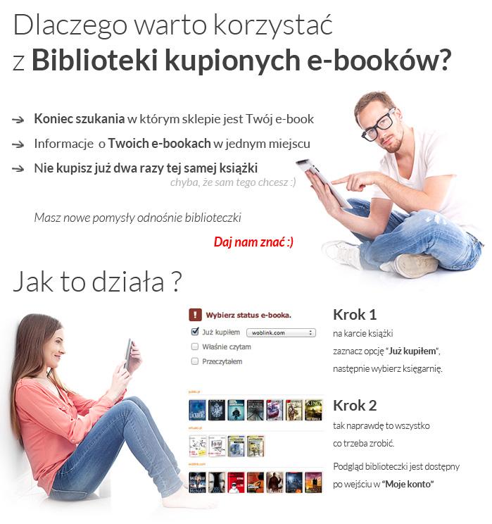 UpolujEbooka.pl - dlaczego warto korzystać z biblioteki kupionych e-booków